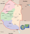 Swaziland Political Map - Mapsof.net
