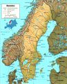 Sweden Map Physical - Mapsof.net