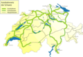 Swiss Highway Network - Mapsof.Net Map