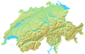 Switzerland Topographic - Mapsof.Net Map