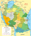 Tanzania Political Map - Mapsof.Net Map