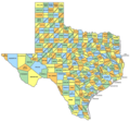 Texas Counties Map 2 - Mapsof.Net Map