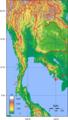 Thailand Topography - Mapsof.Net Map