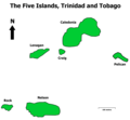 The Five Islands, Trinidad And Tobago - Mapsof.Net Map