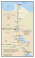 The Suez Canal Zone of Egypt - Mapsof.Net Map