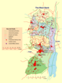 The West Bank Map - Mapsof.net
