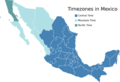 Timezones In Mexico - Mapsof.Net Map