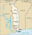 Togo Cia Wfb Map - Mapsof.Net Map