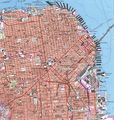 Topographic City Map San Francisco - Mapsof.Net Map