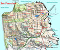 Topographic Map of San Francisco - Mapsof.Net Map