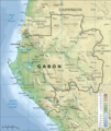 Topographic Map of Gabon En - Mapsof.Net Map