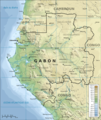 Topographic Map of Gabon Fr - Mapsof.Net Map