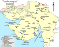 Tourist Map of Gujarat - Mapsof.Net Map