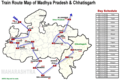 Train Map of Madhya Pradesh - Mapsof.net