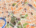 Travel Map Rome - Mapsof.Net Map