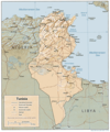Tunisia Relief Map - Mapsof.Net Map