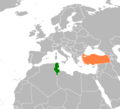 Tunisia Turkey Locator 1 - Mapsof.Net Map