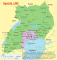 Uganda In 1886 - Mapsof.Net Map