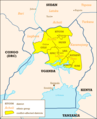 Ugandan Districts Affected By Lords Resistance Army - Mapsof.Net Map