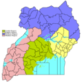 Ugandaregionslegend - Mapsof.Net Map