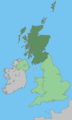 Uk Map Scotland Green - Mapsof.net