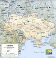 Ukraine Relief Map - Mapsof.Net Map