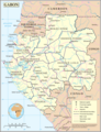 Un Gabon - Mapsof.Net Map