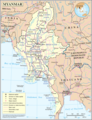 Un Myanmar - Mapsof.Net Map