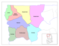 Upper West Ghana Districts - Mapsof.Net Map