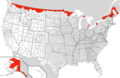 Us Canada Border Counties - Mapsof.Net Map