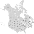 Usa And Canada With Names - Mapsof.Net Map