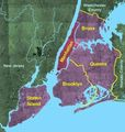 Usgs Photo Five Boroughs Manhattan - Mapsof.Net Map
