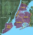 Usgs Photo New York Five Boroughs - Mapsof.Net Map