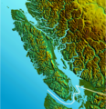 Vancouver Island Relief - Mapsof.net