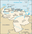 Venezuela Cia Wfb Map - Mapsof.Net Map