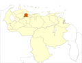 Venezuela Yaracuy State Location - Mapsof.Net Map