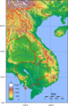Vietnam Topography - Mapsof.Net Map