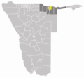 Wahlkreis Rundu Land In Kavango - Mapsof.Net Map