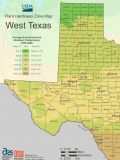 West Texas Plant Hardiness Zone Map - Mapsof.net