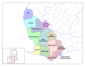 Western Ghana Districts - Mapsof.Net Map