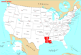 Where Is Louisiana Located - Mapsof.Net Map
