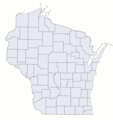 Wisconsin Counties Blank Map - Mapsof.Net Map