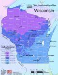 Wisconsin Plant Hardiness Zone Map - Mapsof.Net Map