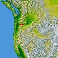 Wpdms Nasa Topo Columbia River Gorge - Mapsof.Net Map