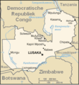 Zambia - Mapsof.Net Map