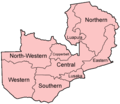 Zambia Provinces Named - Mapsof.Net Map