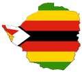 Zimbabwe Flag Map - Mapsof.Net Map