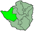 Zimbabwe Provinces Matabele North 250px - Mapsof.Net Map