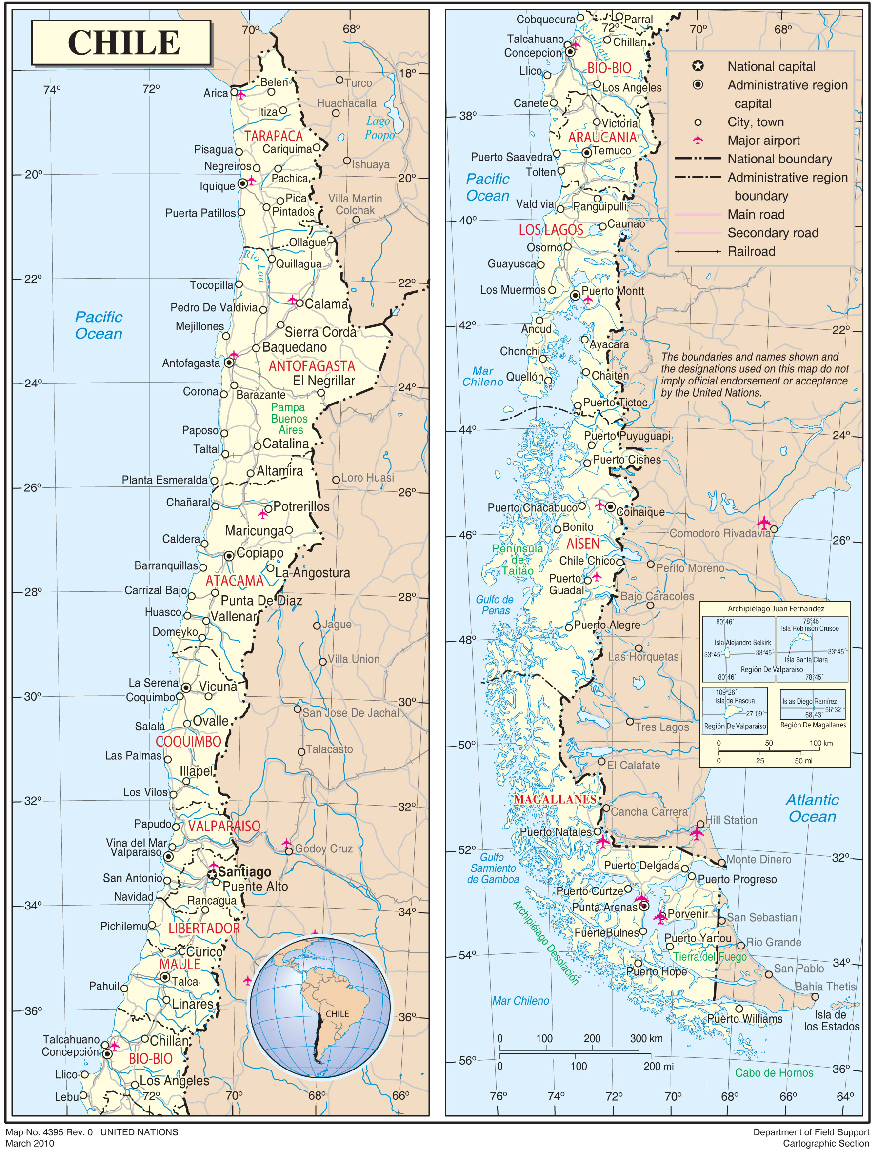 Map Of Chile With Cities Chile Cities Map • Mapsof.net