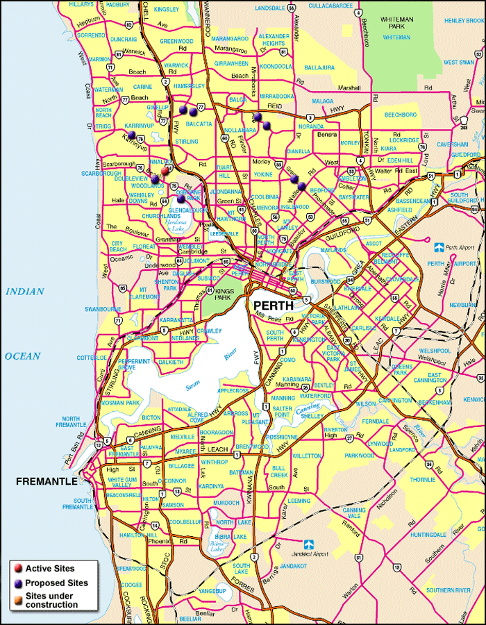 Map Of Perth City Map of Perth • Mapsof.net Map Of Perth